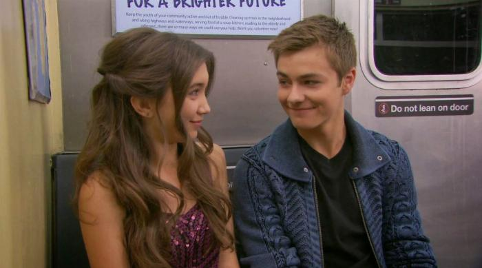 Riley and Lucas before their first kiss on Girl Meets World