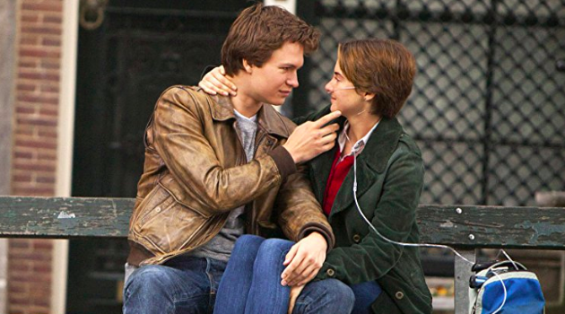 The Fault in Our Stars: Hazel and Augustus sit on a bench in Amsterdam