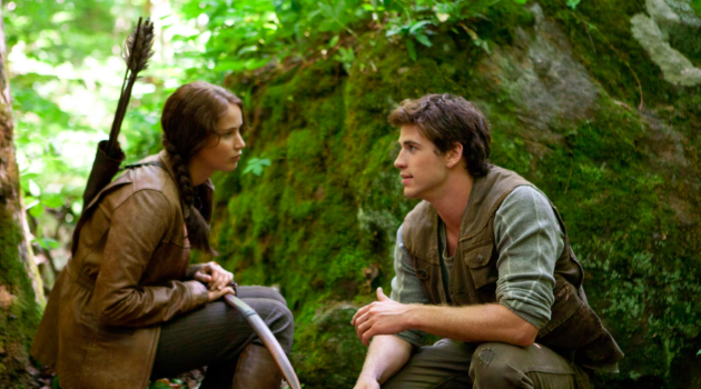 The Hunger Games: Katniss and Gale in the forest