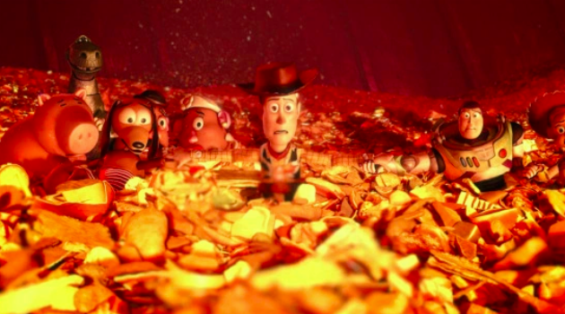 Toy Story 3: Toys trapped in the incinerator
