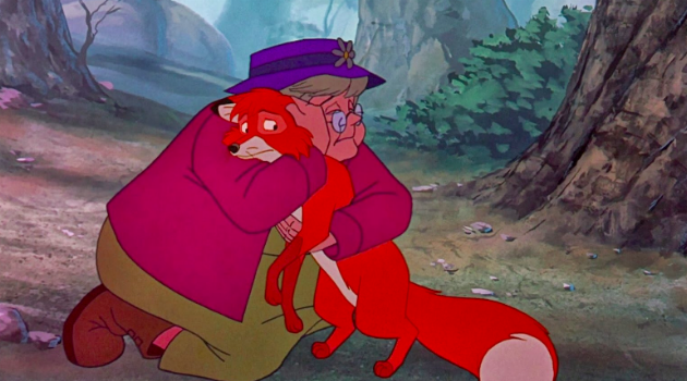 The Fox and the Hound; Widow Tweed gives up tod