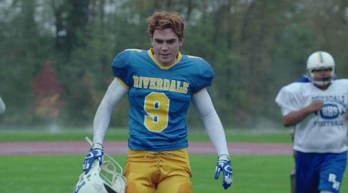 Archie Andrews in His Football Jersey on Riverdale