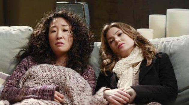Cristina and Meredith on Grey's Anatomy