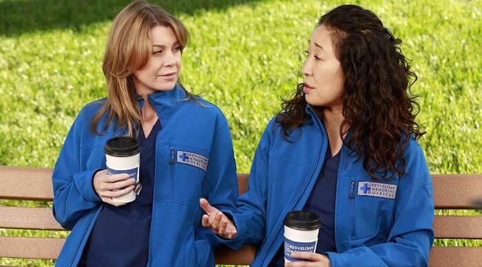 Meredith and Christina on Grey's Anatomy