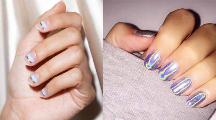 Cute purple manicure