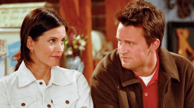 Friends: Chandler staring at Monica