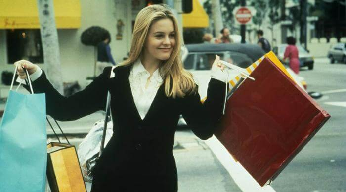 Clueless: Cher with shopping bags