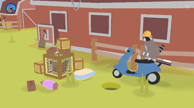 Donut County: Raccoon scooter and holes