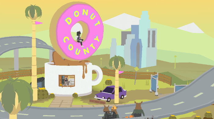 Donut County: Opening screen