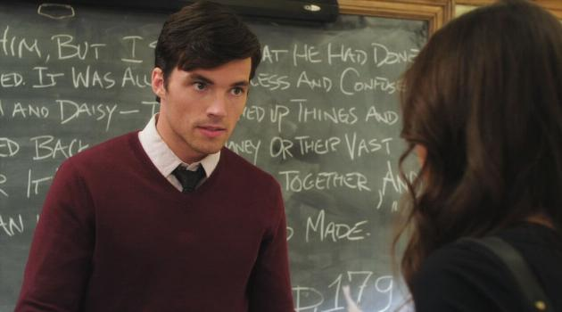 Ezra scolding Aria on an episode of Pretty Little Liars