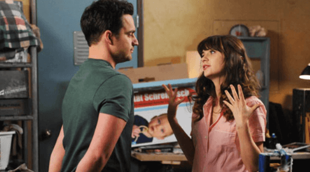 New Girl: Jess and Nick talking