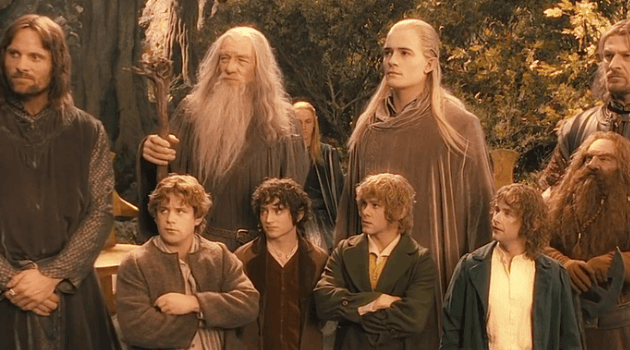 The Lord of the Rings: the fellowship gathering