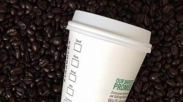 Starbucks Pumpkin Spice Latte in coffee beans