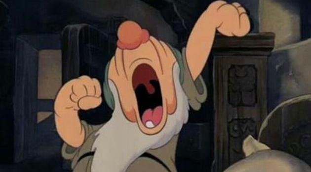 Snow White and the Seven Dwarfs - Sleepy yawning