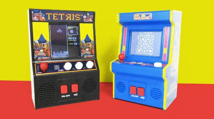 Basic Fun Tetris and Ms. Pac Man Mini Arcades