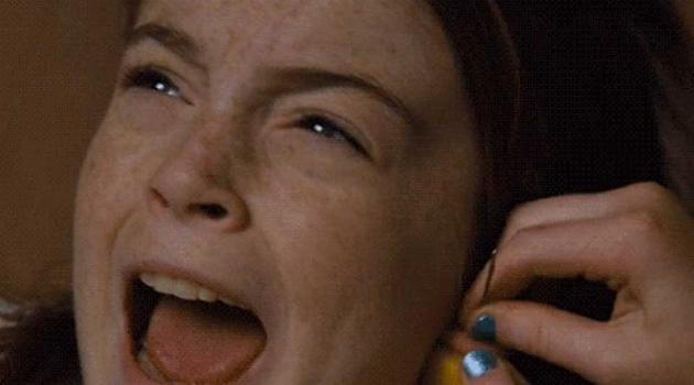 The ear piercing scene from The Parent Trap with Lindsay Lohan