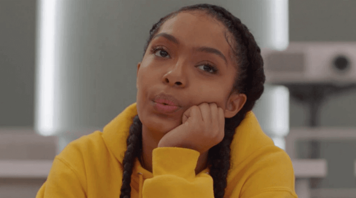 Grown-ish: Zoey whistling in class