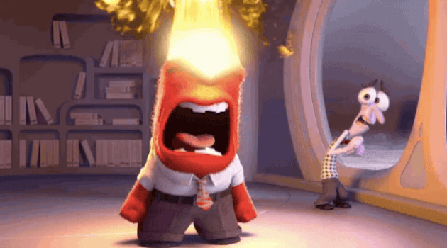 Inside Out: Anger blowing up