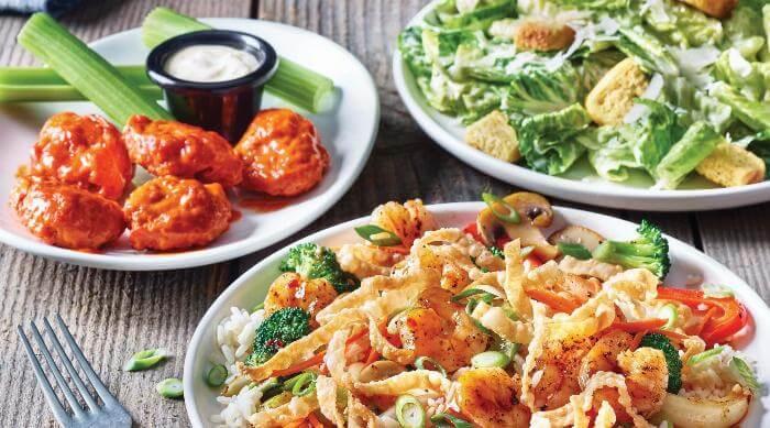Applebee's 3-Course Menu meal