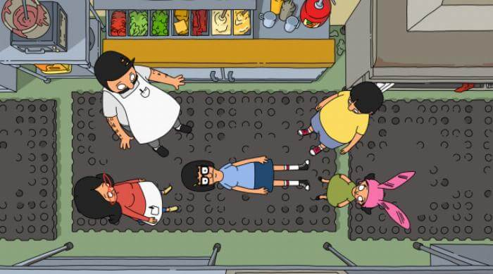 Bob's Burgers: Tina Belcher lays on the floor in the family restaurant