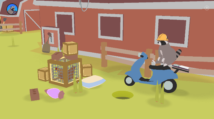 Donut County: Raccoon on a scooter