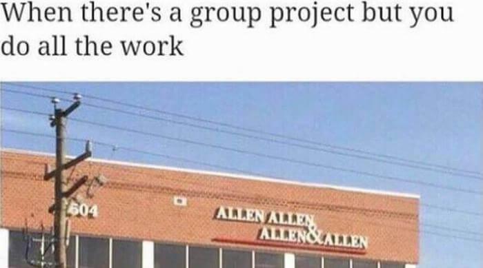 Group project meme