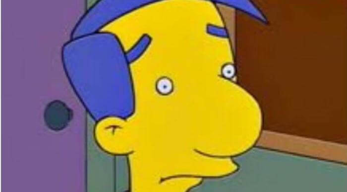 Instagram: Meme of Milhouse not wearing glasses on The Simpsons
