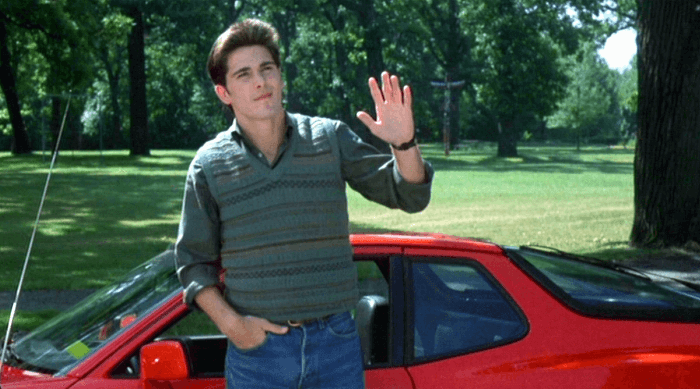 Jake Ryan at the end of Sixteen Candles