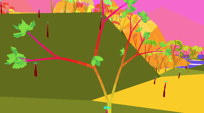 Mendel: Neon-colored branches