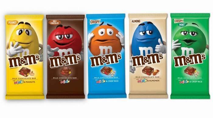 M&M's Milk Chocolate bars
