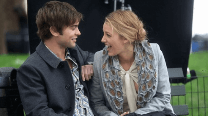 Gossip Girl: Nate and Serena laughing together