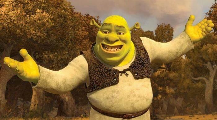 Shrek 2: Embarrassed ta-da
