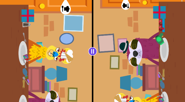 Sizzle and Stew: Two player split screen