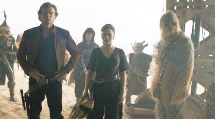 Solo: A Star Wars Story - Beckett, Han, Qi'ra and Chewbacca