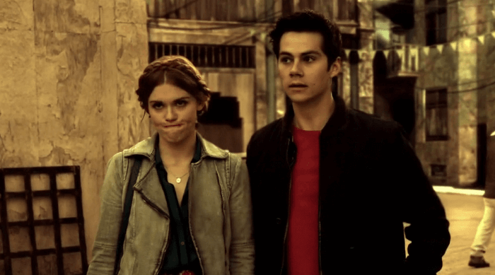 Lydia upset with Stiles during an episode of Teen Wolf