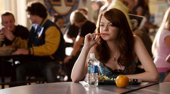 Olive Eats Lunch in Easy A