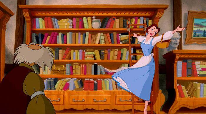 Beauty and the Beast: Belle in the library