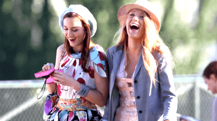 Gossip Girl: Blair and Serena laughing together
