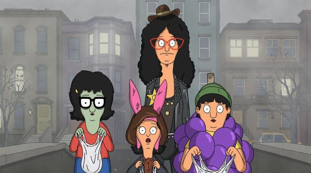 The Bob's Burgers family going trick-or-treating together