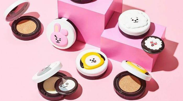 BT21 makeup collection
