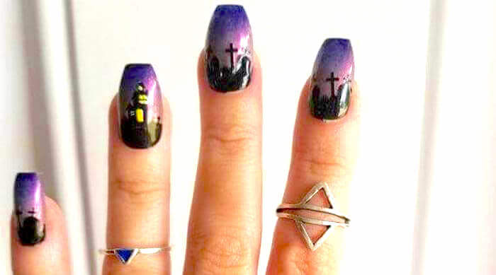 Etsy haunted house nails