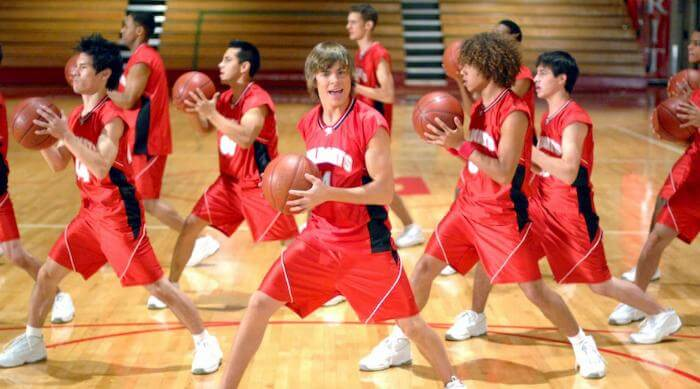 High School Musical: Troy singing Get'cha Head in the Game