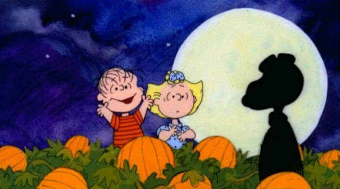 Its the Great Pumpkin charlie brown: linus in the pumpkin patch