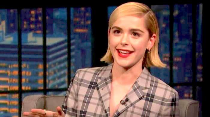 Kiernan Shipka on Late Night still