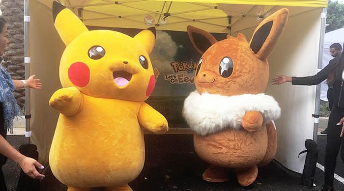 Pokémon: Let's Go Event Pikachu and Eevee mascots