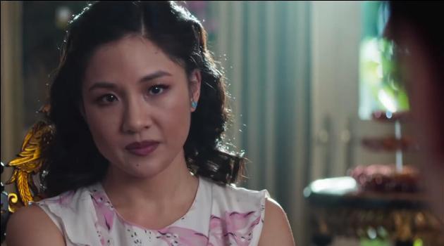 Rachel looking upset in Crazy Rich Asians