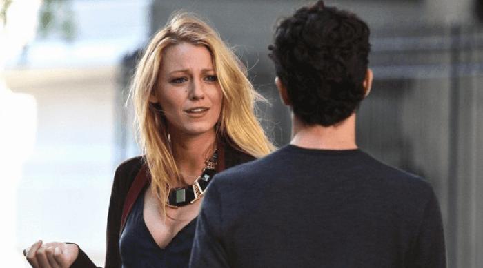 Gossip Girl: Serena making a face at Dan