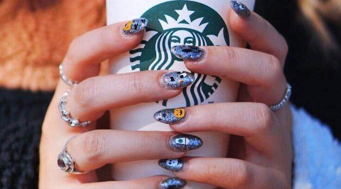Starbucks x Skinnydip Nail Decals