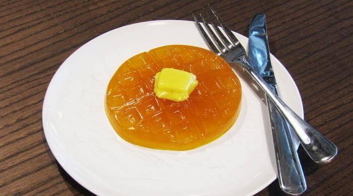 It'sugar Stranger Things gummy waffle on plate