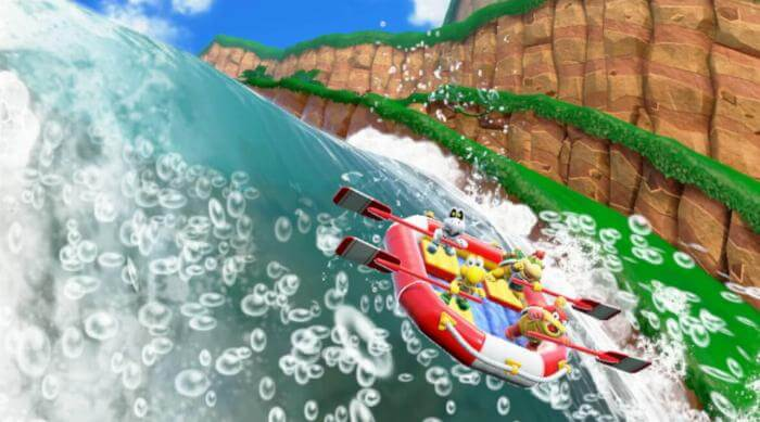 Super Mario Party: River Survival minigame